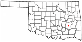 Location of McAlester, Oklahoma