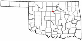 Location of Orlando, Oklahoma