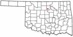 Location within Noble County and Oklahoma