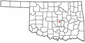 Location of Shawnee, Oklahoma