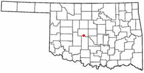 Location of Union City, Oklahoma