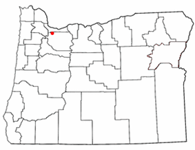 Location of Sunnyside, Oregon