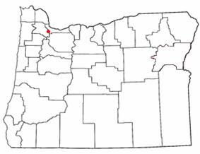 Location of West Haven-Sylvan, Oregon