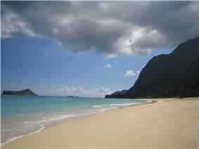 The beach at Waimānalo on windward Oʻahu