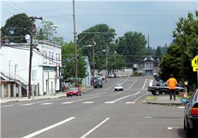 View from main street (Oak Grove Boulevard) in Oak Grove