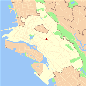 Location of the Dimond District in Oakland