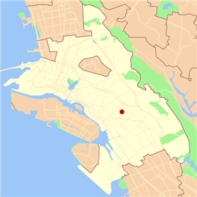 Location of Maxwell Park in Oakland