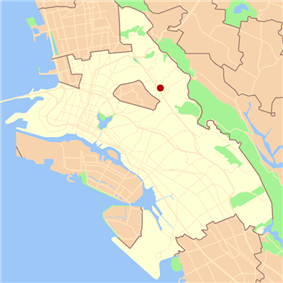 Location in Oakland