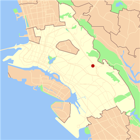 Location of Redwood Heights in Oakland