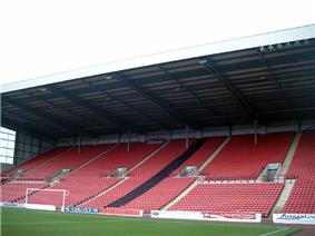 The North Stand of Barnsley F.C.'s Oakwell stadium