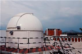 The Observatory at IIST with an 8 inch Celestron telescope.The library building can be seen in the background