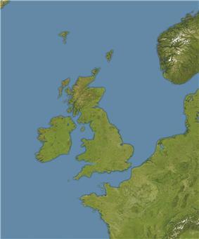 Location of Rockall in Europe.