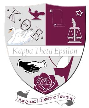 The official crest of Kappa Theta Epsilon Sorority.