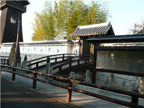 Reconstructed gate of Ōguchi Castle