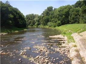 Ohře near Doksany during a dry summer