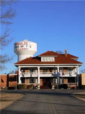 Elks Lodge and Water Tower in Okmulgee, Oklahoma