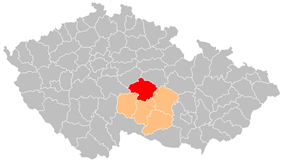 District location in the Vysočina Region within the Czech Republic