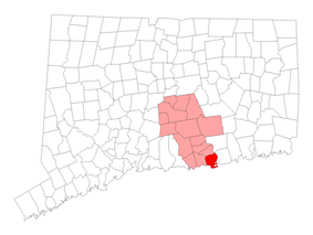 Location within Middlesex County, Connecticut