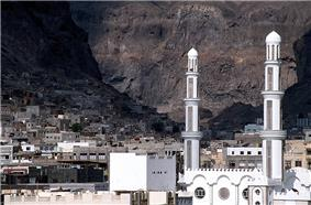 The old town of Aden, situated in the crater of an extinct volcano (1999)