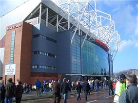 The East Stand of Manchester United's stadium Old Trafford