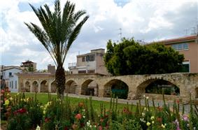 Photo of old city aqueduct in Nicosia