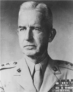 A black and white image of Oliver Smith, a white male in his Marine Corps dress uniform