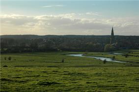 A prospect of Olney, across the Ouse flood plain