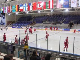 Olympic hockey game Peaks Ice Arena