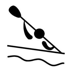 Olympic pictogram Canoeing (slalom)