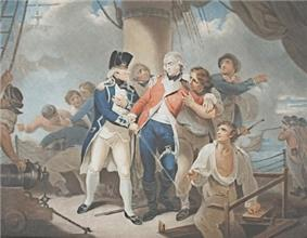On the deck of HMS Glatton