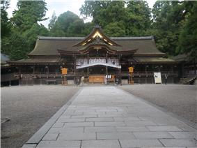 View of Omiwa Shrine, one of sightseeing spot in Sakurai