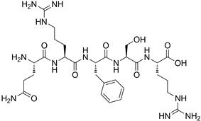 Chemical structure of Opiorphin.