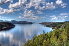 View of the Opløfjord in Nærøy