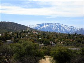 View of Oracle, AZ looking south with Mt. Lemmon in background.