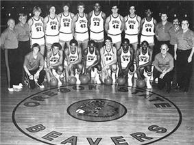 Oregon State's 1980-81 basketball team known as the Orange Express.