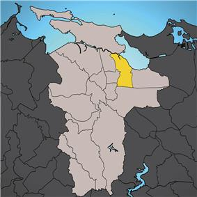 Location of Oriente shown in yellow.