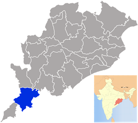 Location in Odisha, India