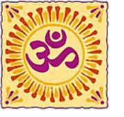 Ornamental aum Symbol