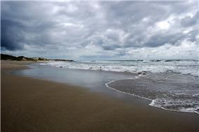 One of the many beaches along the Jæren coastline.