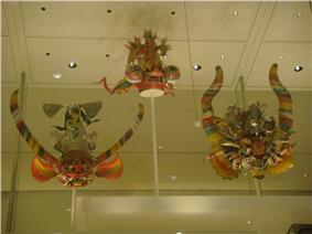 Three Diablada masks.
