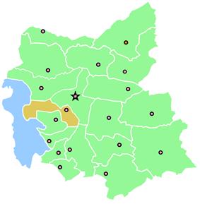 Location of Osku County in East Azerbaijan Province