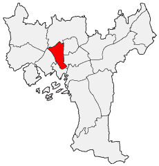 Location of Bydel St. Hanshaugen