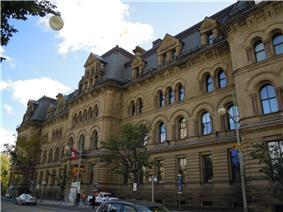 View of the Langevin Block from Wellington Street