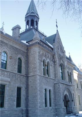 Exterior view of the Elgin Street frontage of the Former Ottawa Teachers' College