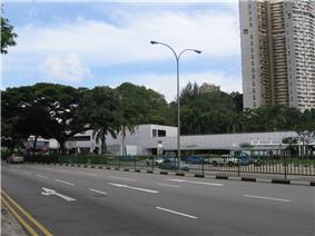 Outram Road with Outram Park MRT Station and the Pearl Bank Apartments in the background.