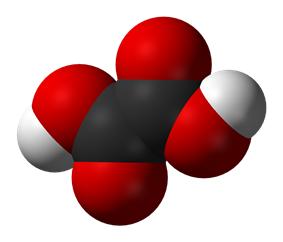 Space-filling model of oxalic acid