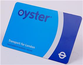 Credit-card size ticket in pale blue, white and dark blue with the name