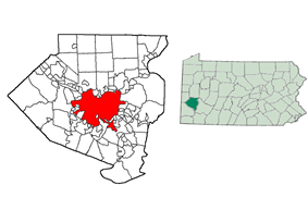 Location in Allegheny County, Pennsylvania