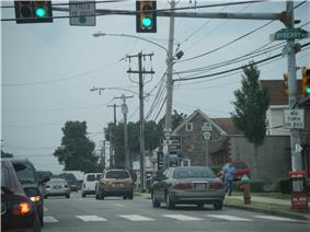 Bustleton Avenue at the intersection with Byberry Road in Somerton.