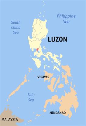 Location of Manila